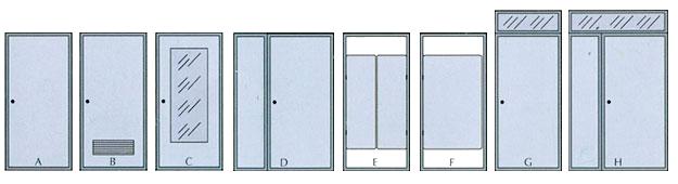 Porta pvc con pannello laminato polistirolo effetto legno - Tipologie di porte ...